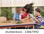biology lesson in preschool  ...   Shutterstock . vector #13867492