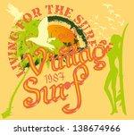 sunshine caribbean island... | Shutterstock .eps vector #138674966