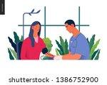 medical tests illustration  ... | Shutterstock .eps vector #1386752900