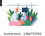 medical tests illustration  ... | Shutterstock .eps vector #1386752903