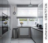 Modern  Narrow Kitchen With...