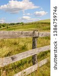 part of equine fence along... | Shutterstock . vector #1386759746