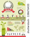 golf vector infographics | Shutterstock .eps vector #138676433