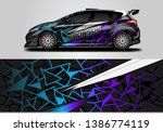 car wrap livery decal vector  ... | Shutterstock .eps vector #1386774119