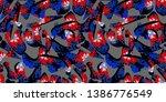 geometric figures with texture...   Shutterstock . vector #1386776549