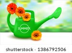 watering can isolated on white... | Shutterstock .eps vector #1386792506