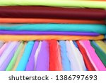 colorful tulle fabric for sale | Shutterstock . vector #1386797693