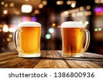 beer in glass and free space... | Shutterstock . vector #1386800936