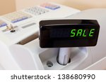 the word sale on the display of ... | Shutterstock . vector #138680990