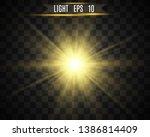 white beautiful light explodes... | Shutterstock .eps vector #1386814409
