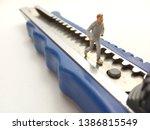 running mini figure man toy at... | Shutterstock . vector #1386815549