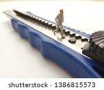 running mini figure man toy at... | Shutterstock . vector #1386815573