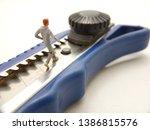 running mini figure man toy at... | Shutterstock . vector #1386815576
