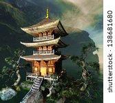 zen buddhist temple in the... | Shutterstock . vector #138681680