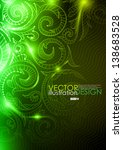 Neon Pattern Background. Vecto...