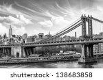 Stock photo manhattan skyscrapers with cloudy sky new york city u s a 138683858