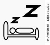 new sleeping icon in trendy...