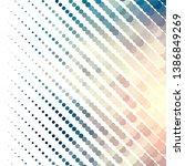vintage halftone color texture... | Shutterstock .eps vector #1386849269