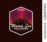 mauna loa volcanoes  hawaii.... | Shutterstock .eps vector #1386849806