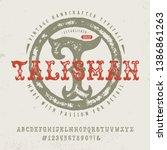 font talisman. hand crafted... | Shutterstock .eps vector #1386861263