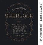 font whiskey from sherlock.... | Shutterstock .eps vector #1386861269