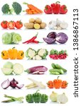 vegetables tomatoes lettuce... | Shutterstock . vector #1386867113