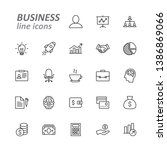 business and finance line icons ... | Shutterstock .eps vector #1386869066