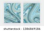 set liquid marble texture. blue ...   Shutterstock .eps vector #1386869186