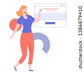 girl character web designer...