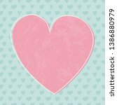 background with cute hearts and ... | Shutterstock .eps vector #1386880979