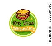 vegan sandwich logo icon...   Shutterstock .eps vector #1386884060