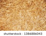 Yellow Straw Texture Closeup On ...