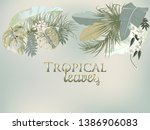 vector tropical jungle cover... | Shutterstock .eps vector #1386906083
