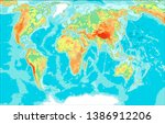 highly detailed physical map of ...   Shutterstock .eps vector #1386912206
