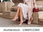 Closeup Fashionable Woman Legs...