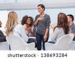 happy patient has a... | Shutterstock . vector #138693284