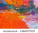 abstract painting art for sale. ... | Shutterstock . vector #1386957029