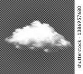 vector cloud on transparent...   Shutterstock .eps vector #1386957680