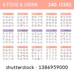 big collection of linear icons. ... | Shutterstock . vector #1386959000
