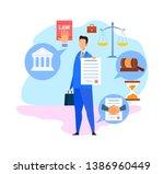 corporate lawyer  advisor flat... | Shutterstock .eps vector #1386960449