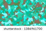 camouflage fashion cyan... | Shutterstock .eps vector #1386961700