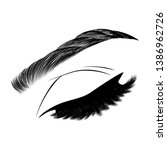 illustration with woman's eye... | Shutterstock .eps vector #1386962726