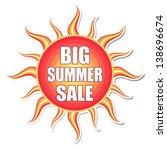 big summer sale banner   text... | Shutterstock .eps vector #138696674