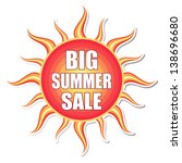 big summer sale banner   text... | Shutterstock . vector #138696680