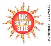 big summer sale banner   text... | Shutterstock . vector #138696680