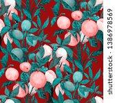 watercolor seamless pattern... | Shutterstock . vector #1386978569