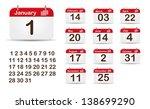 monthly calendar editable eps...   Shutterstock .eps vector #138699290