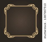 decorative frame in vintage... | Shutterstock .eps vector #1387007513