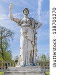 antique statue in luxembourg...   Shutterstock . vector #138701270