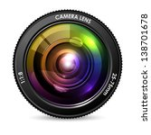 illustration of colorful camera ... | Shutterstock .eps vector #138701678